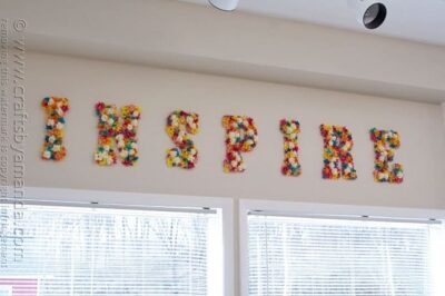 DIY Flower Wall Letters - Amanda Formaro, Crafts by Amanda
