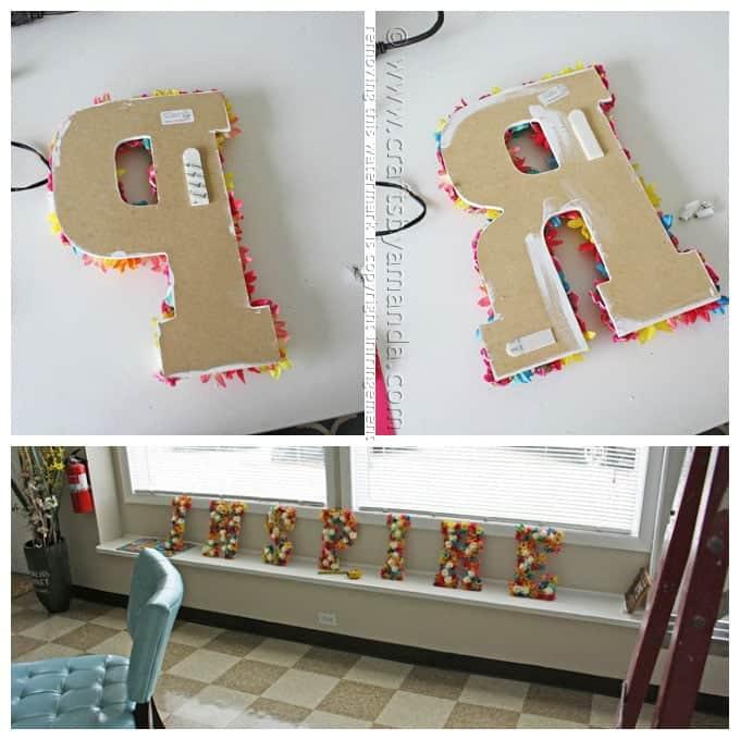 DIY Flower Wall Letters - Amanda Formaro, Crafts by Amanda