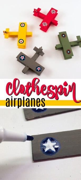 military clothespin airplanes pin image