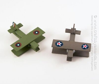 Military Clothespin Airplanes by Amanda Formaro, Crafts by Amanda