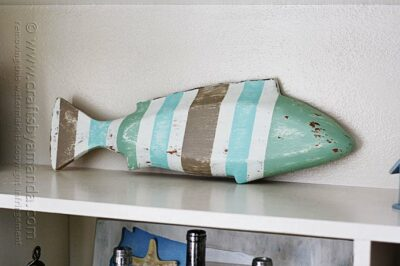 Striped Coastal Fish Decor by Amanda Formaro, Crafts by Amanda