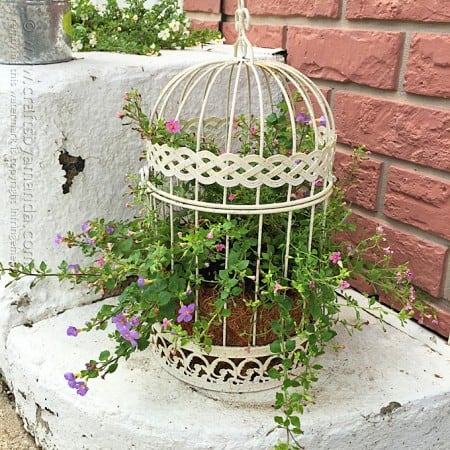 Bird Cage Flower Planter by Amanda Formaro, Crafts by Amanda