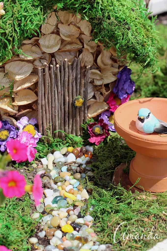 whimsical fairy garden house