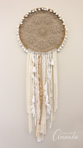 Boho Chic Doily Dreamcatcher