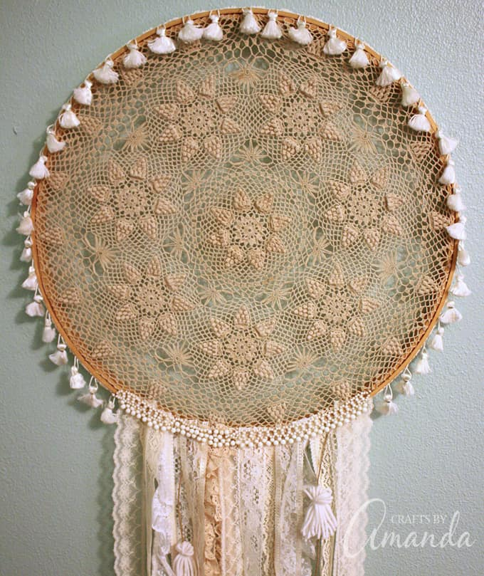 Boho Chic Doily Dreamcatcher by Amanda Formaro of Crafts by Amanda