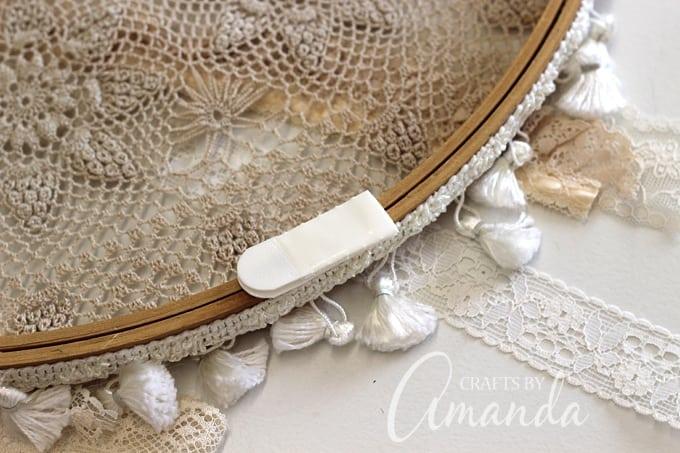 Boho Chic Doily Dreamcatcher by Amanda Formaro of Crafts by Amanda