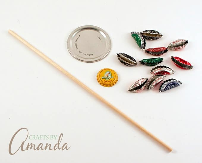 How to Make an adorable and rustic Bottle Cap Flower by Amanda Formaro, Crafts by Amanda