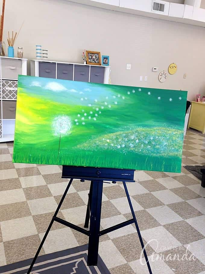 Finished dandelion painting