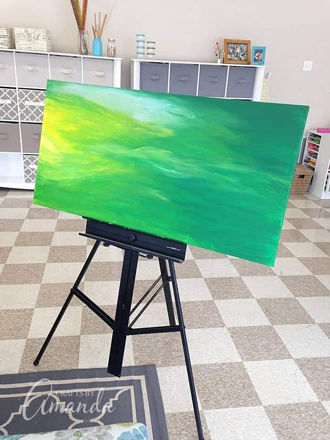 paint the background on the canvas
