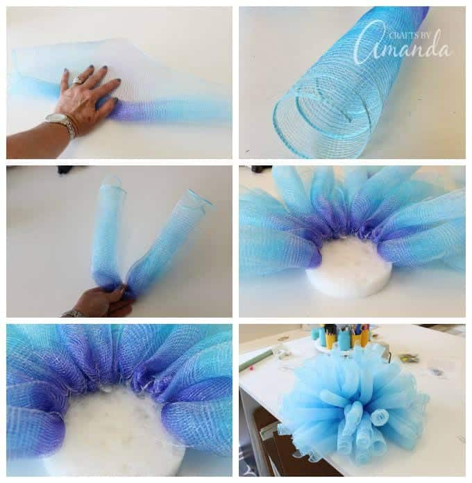 How to make beautiful Deco Mesh Flowers with Amanda Formaro of Crafts by Amanda