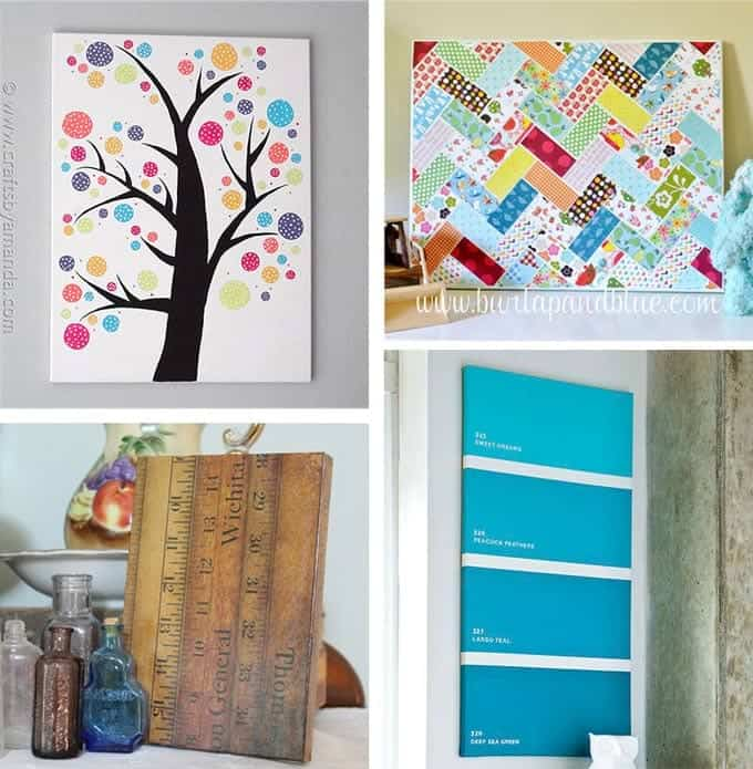Diy canvas wall art roselawnlutheran - Diy wall decorations ...