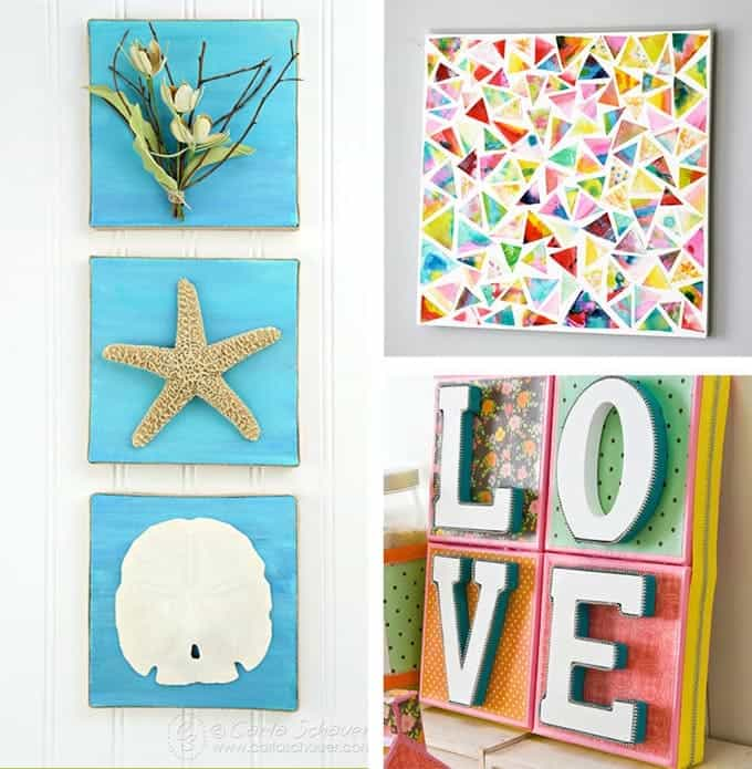 DIY Canvas Wall Art Ideas: 30+ Canvas Tutorials