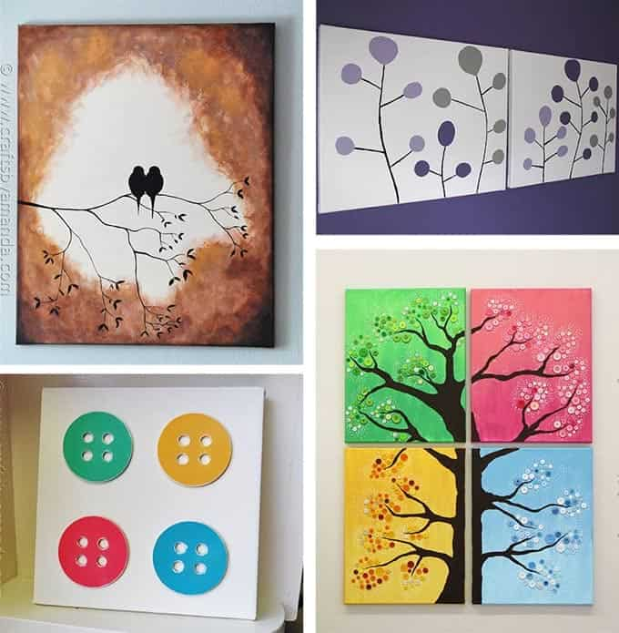 sc 1 st  Crafts by Amanda & DIY Canvas Wall Art Ideas: 30+ canvas tutorials