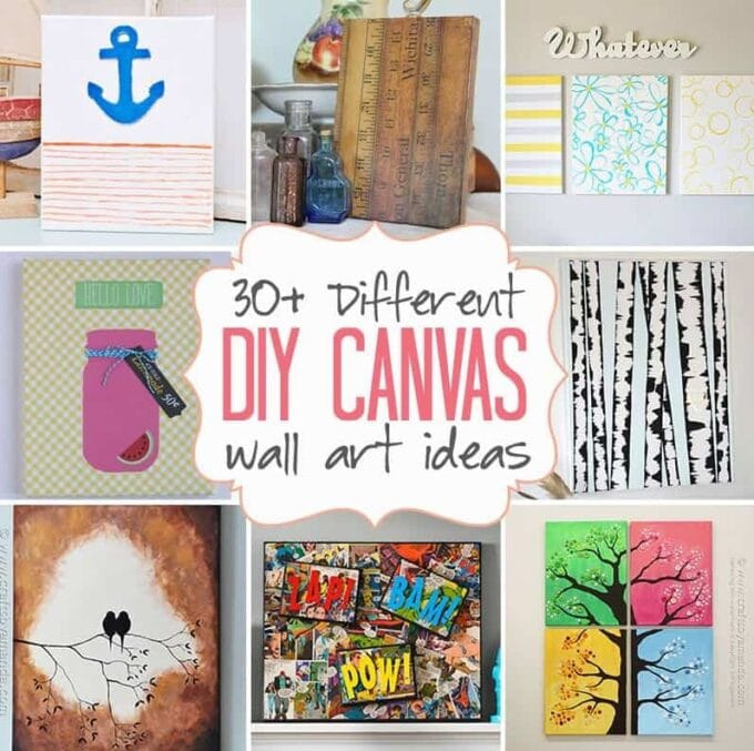 diy canvas wall art ideas 30 canvas tutorials - Canvas Design Ideas