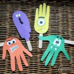 Handprint Puppets for Halloween