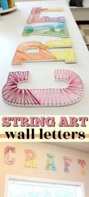 string art wall letters pin image
