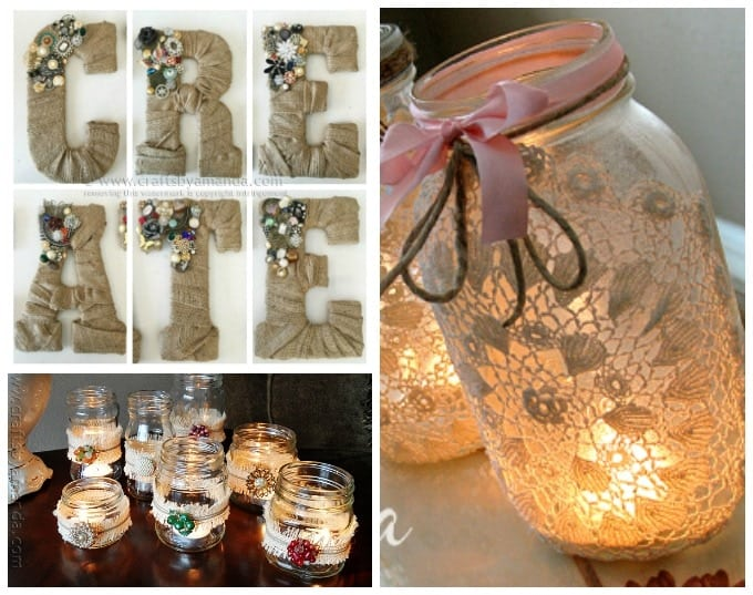 Several beautiful burlap crafts that you will love making!