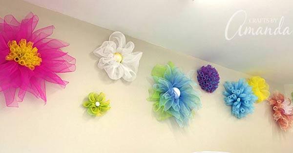 deco mesh flowers how to make several varieties - Decorative Mesh