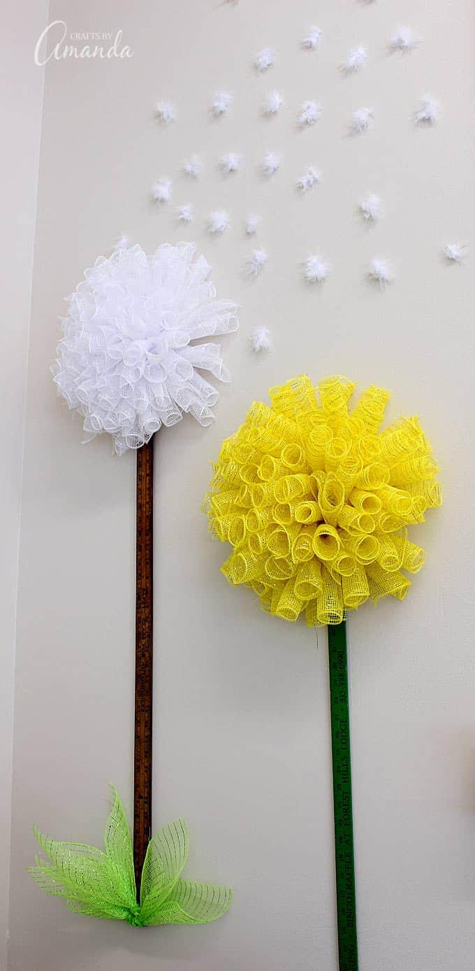 Deco Mesh Dandelion Flowers
