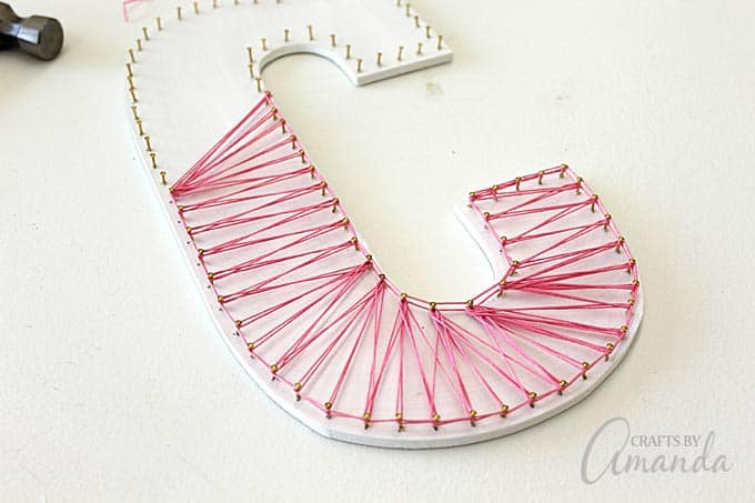 String art how to make colorful wall letters colorful string art wall letters by amanda formaro of crafts by amanda prinsesfo Choice Image