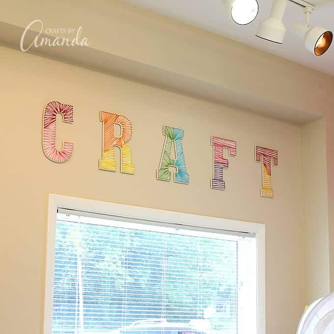 Colorful String Art Wall Letters