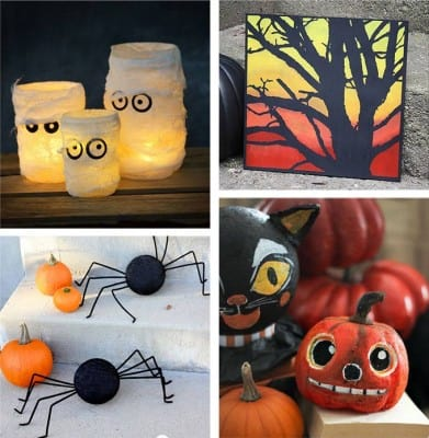 28 homemade halloween decorations 2 crafts by amanda for Halloween craft decorations for adults