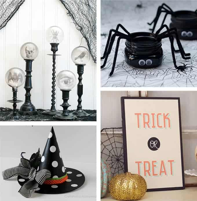 40 diy halloween decorations homemade halloween decor for adults and kids. Black Bedroom Furniture Sets. Home Design Ideas