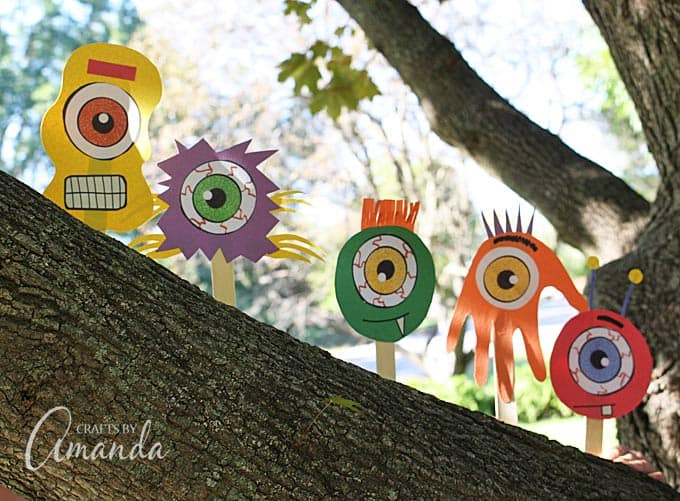 Use craft sticks and construction paper to make an endless assortment of silly popsicle stick monsters!