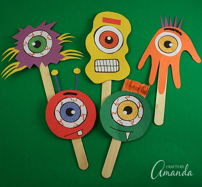 Crafts With Construction Paper And Popsicle Sticks
