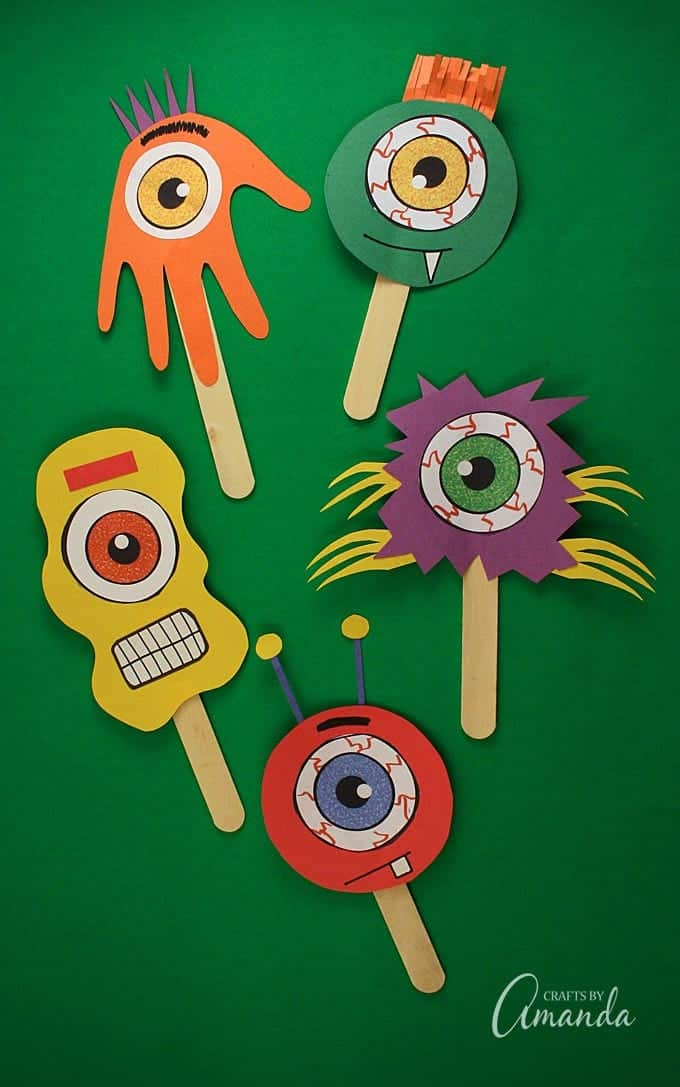 Popsicle Stick Monsters Fun Craft Stick Puppets