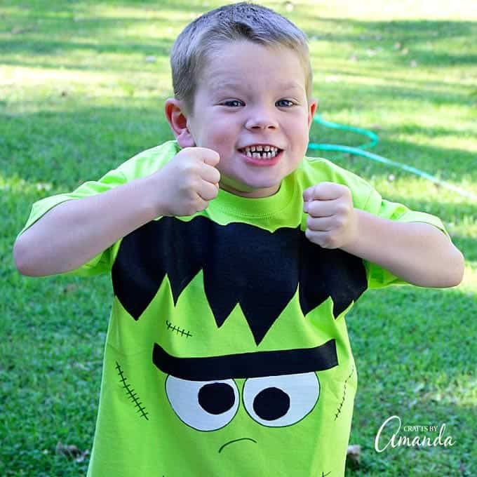 This Frankenstein shirt is perfect for your favorite little monster to wear on Halloween, or any time!