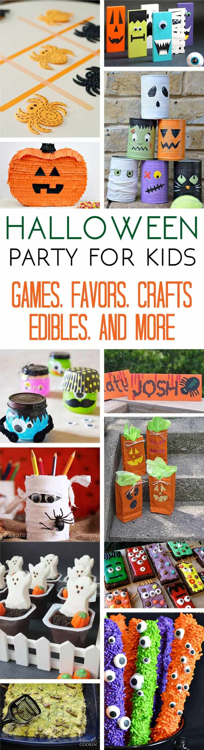 Homemade kids halloween party decorations for Halloween party favor ideas