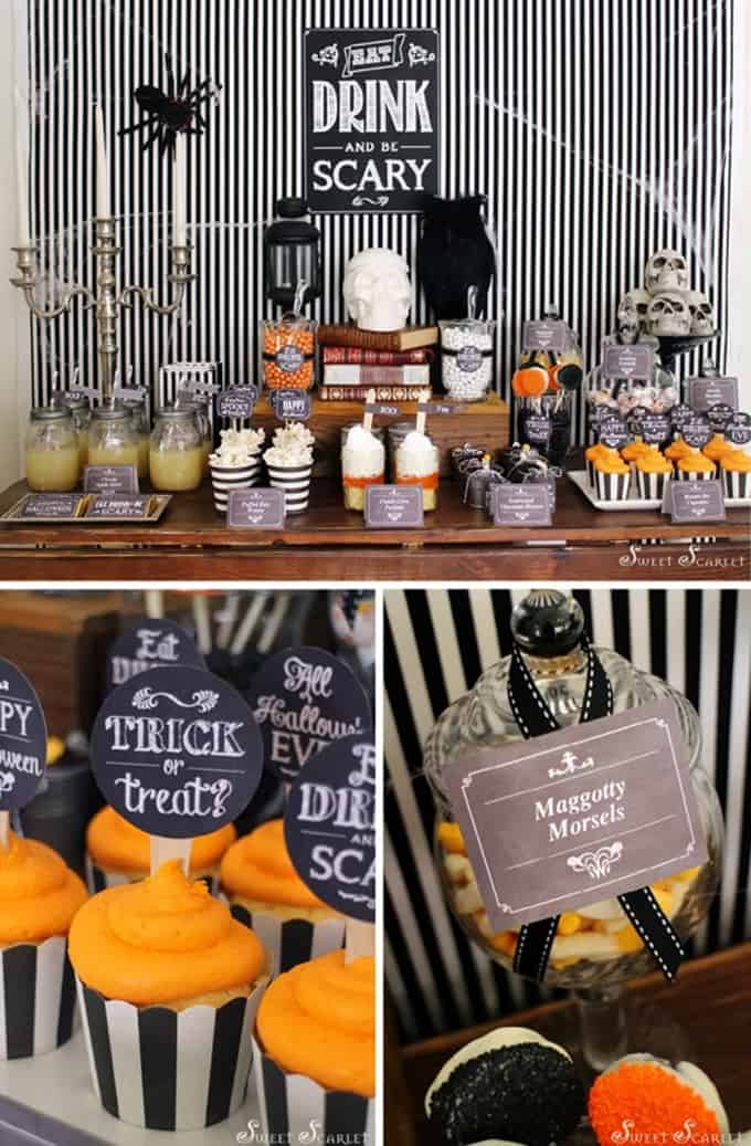 Hosting a Halloween party for kids? Armed with lots of Halloween party ideas you can host a fantastic bash that your littles with love. Great ideas for make & take crafts, spooky DIY decorations, homemade party favors and games, and lots of adorably delicious Halloween edible treats makes for a successful Halloween party for kids.