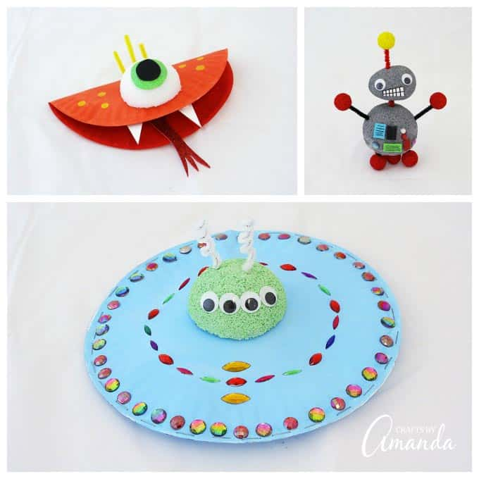 monsters aliens robots craft kit crafts by amanda