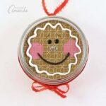 Gingerbread Man Canning Lid Ornament
