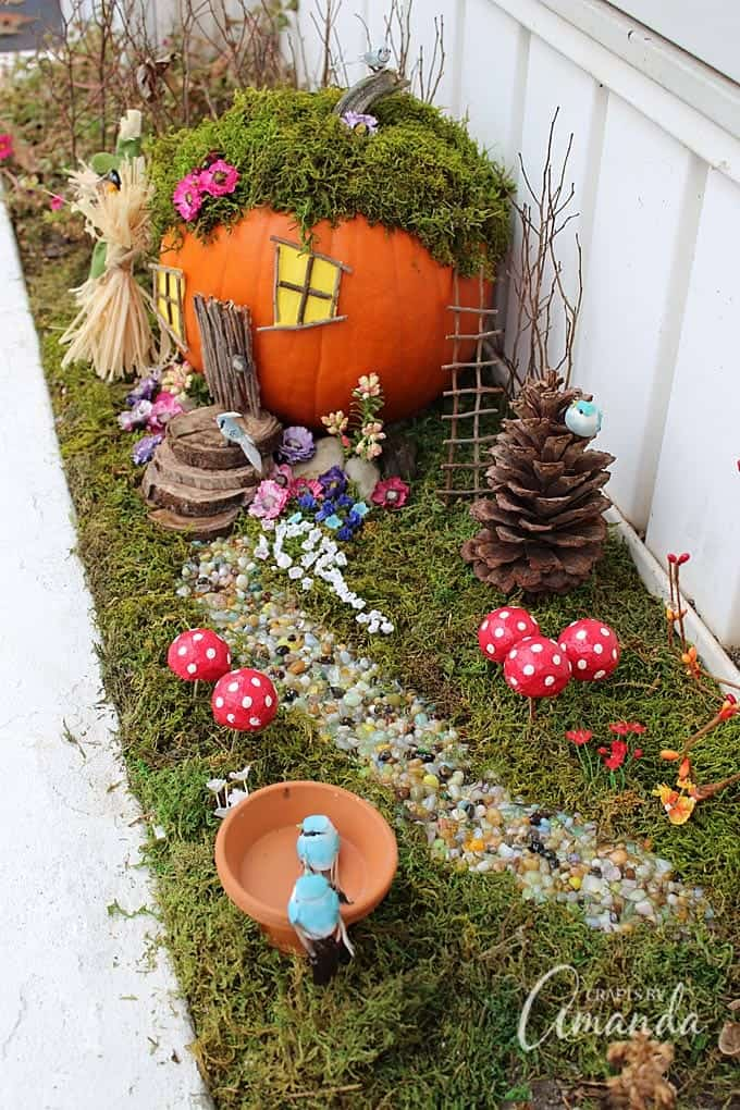 An Adorable Pumpkin Fairy House! Use A Pumpkin, Natural Elements Such As  Twigs And