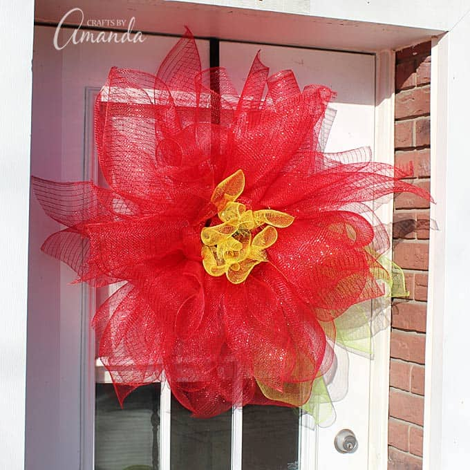 decomesh poinsettia wreath