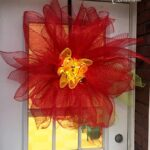 Deco Mesh Poinsettia Flower