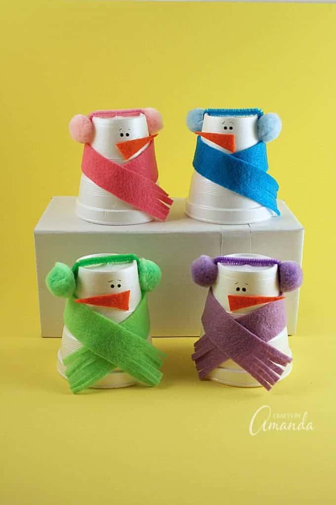Foam Cup Snowmen A Fun Snowman Craft For Kids