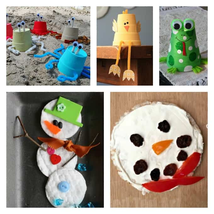 Fun foam cup and snowman crafts your kids will love