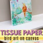 bleeding tissue paper birds pin image