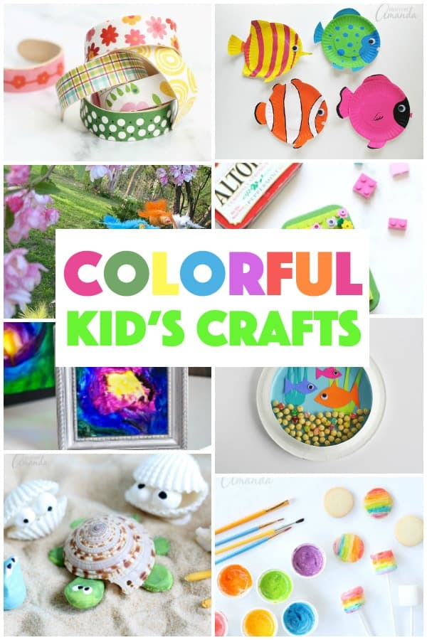 Colorful Kid\'s Crafts - more than 55 colorful craft ideas