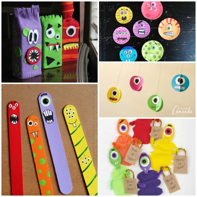 Colorful Monster Crafts for kids