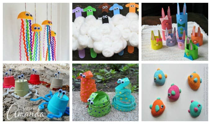 The gallery for art and craft ideas for kids using for Recycled crafts to sell