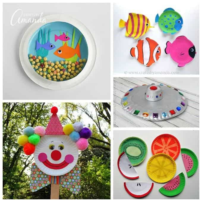 Craft Paper Plate Boxes
