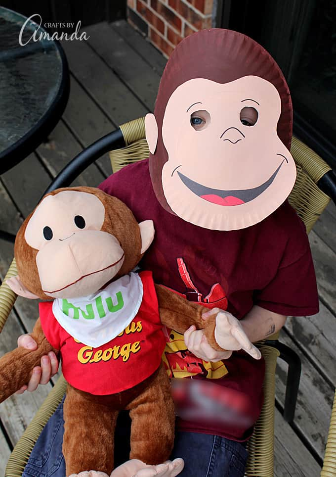 Make a fun Curious George mask out of paper plates!