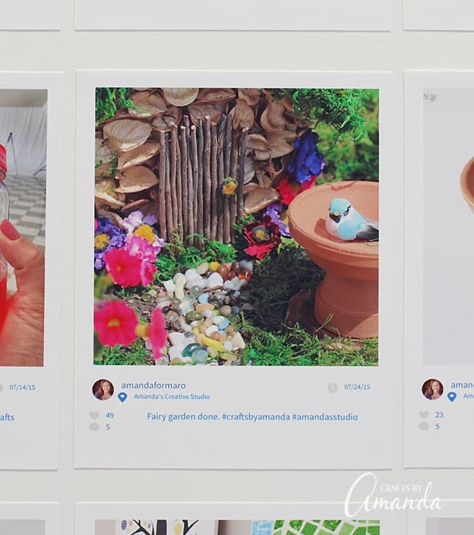 Turn any surface, like this cabinet or a fridge or wall, into a creative way to display your Instagram photos.