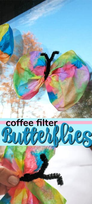 coffee filter butterfly pin image