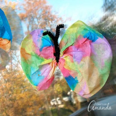 This classic coffee filter butterfly craft is always popular with kids. Coffee filters and watercolor paint turn into beautiful butterflies that your kids will love!