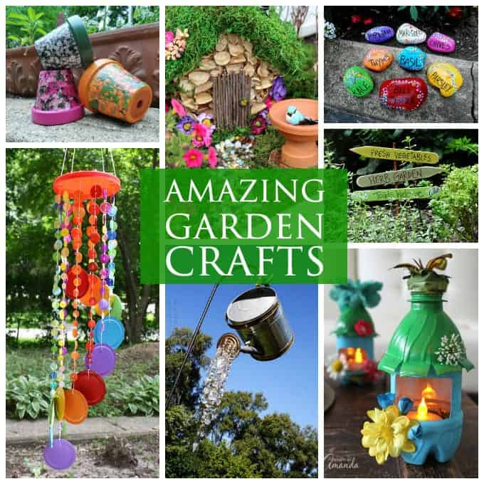 Garden crafts 26 garden craft ideas you can make for Art and craft pot decoration